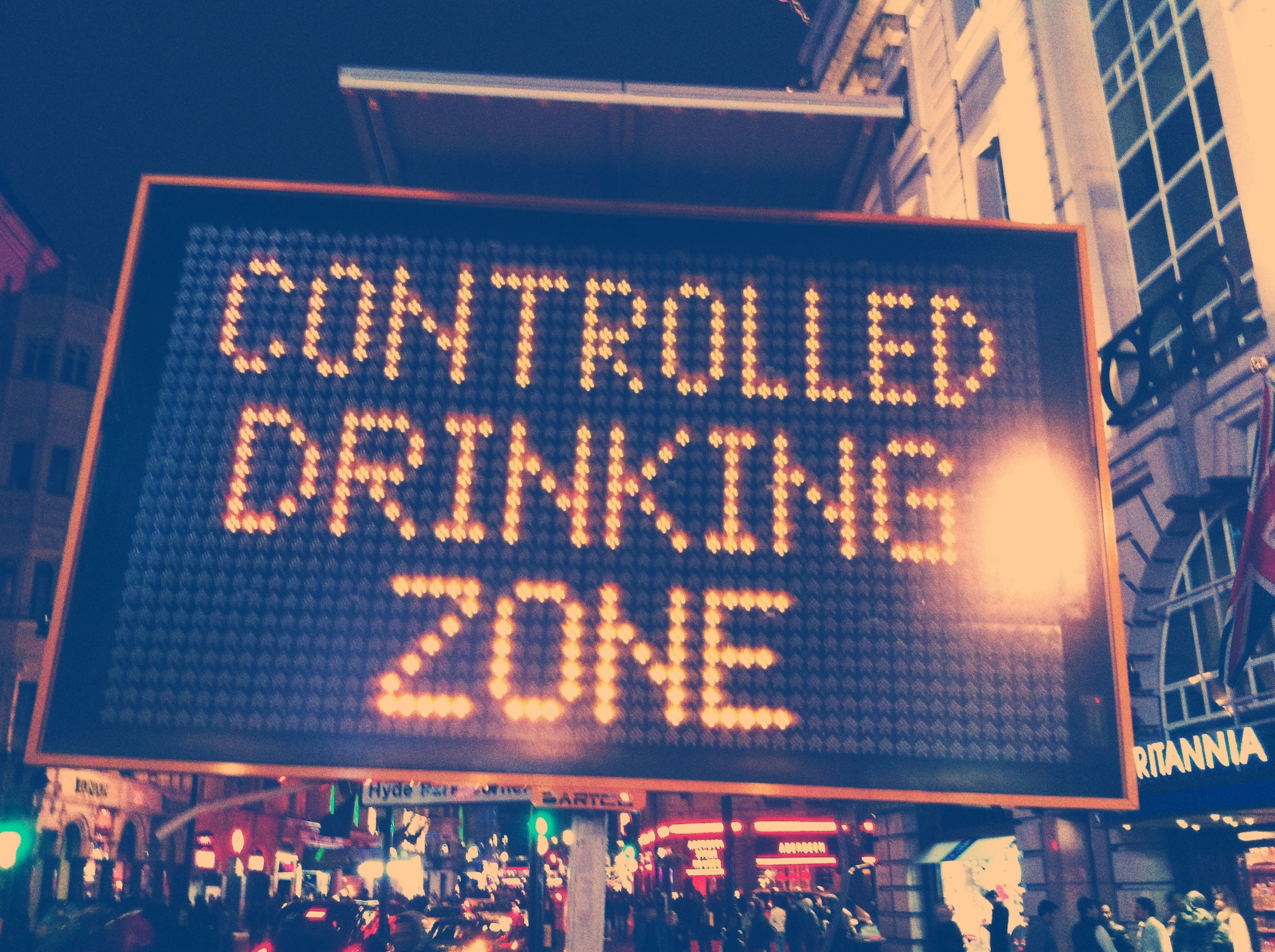 controlled drinking zone