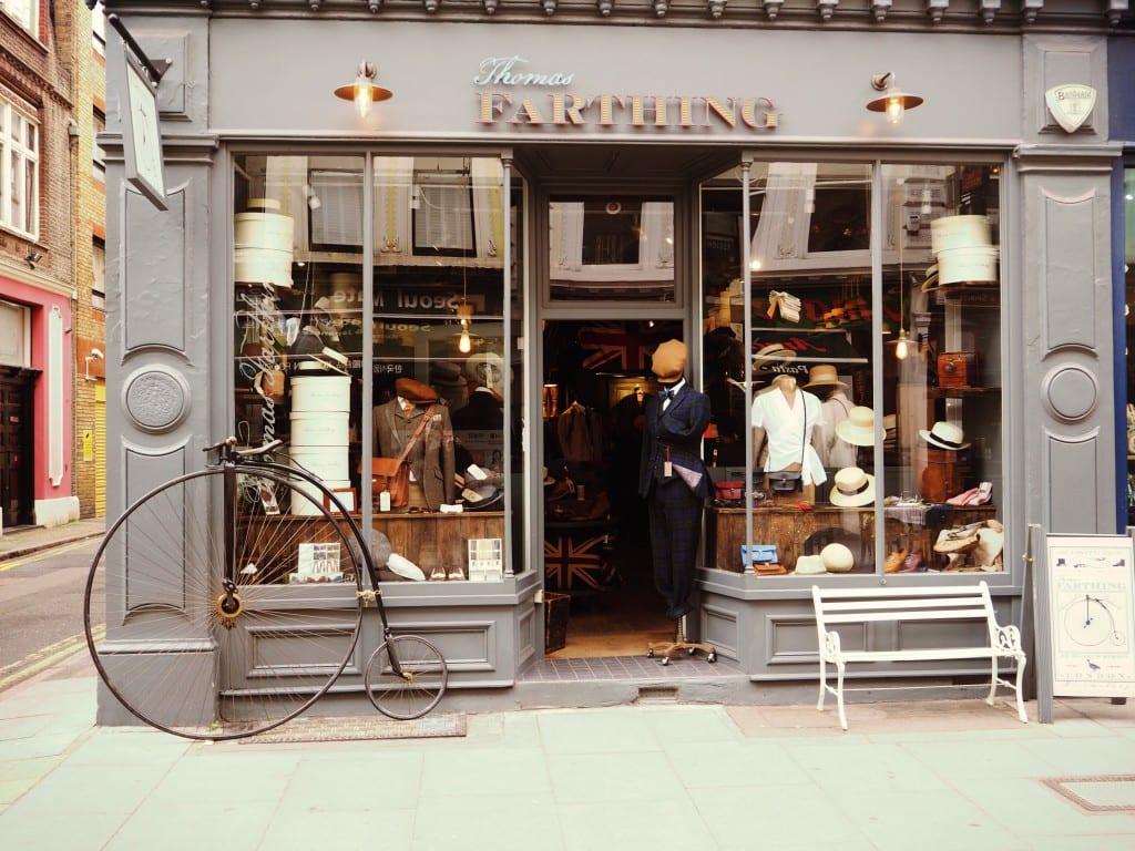 Der Store Thomas Farthing versetzt einen in die guten alten Zeiten.