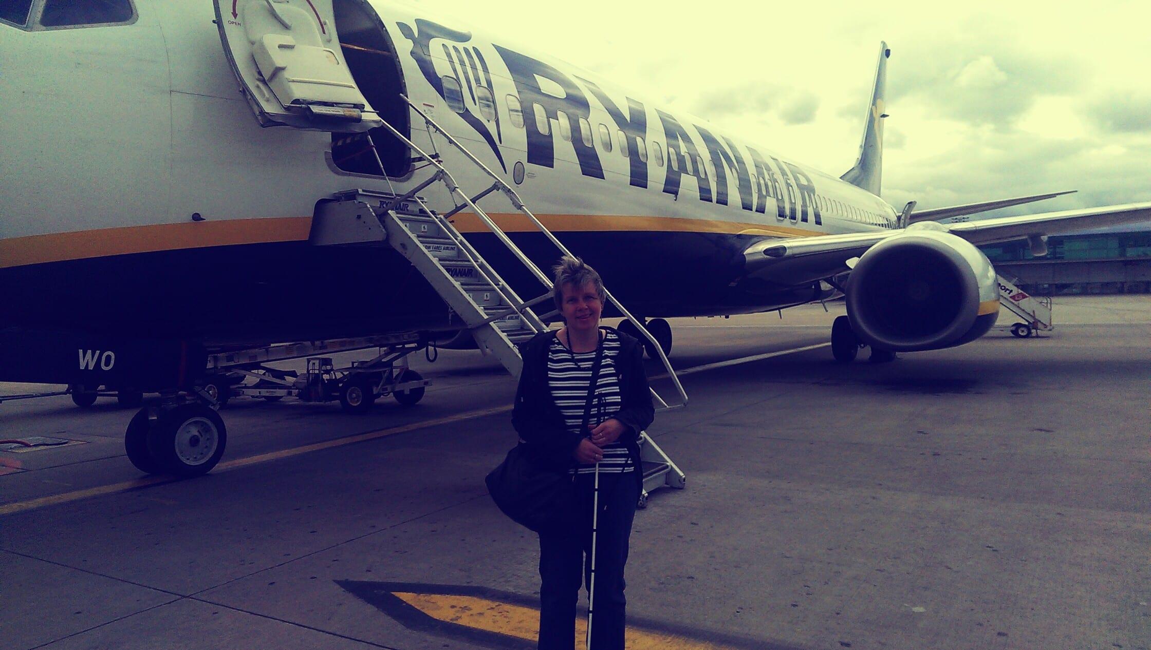 Der Flug von Bremen nach London stellte kein Hindernis für Behinderte dar