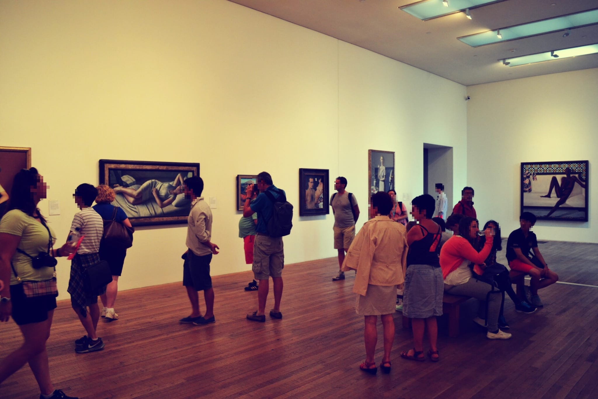 Die Gallerien des Museums beeindrucken viele Menschen