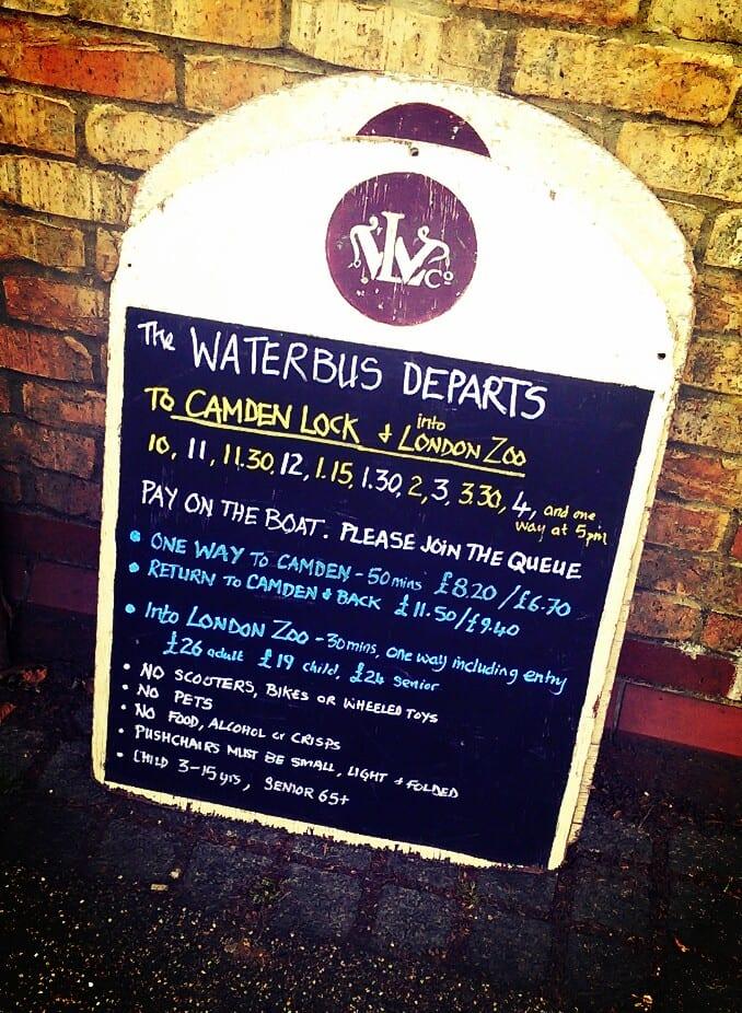 Wasserbus London Service