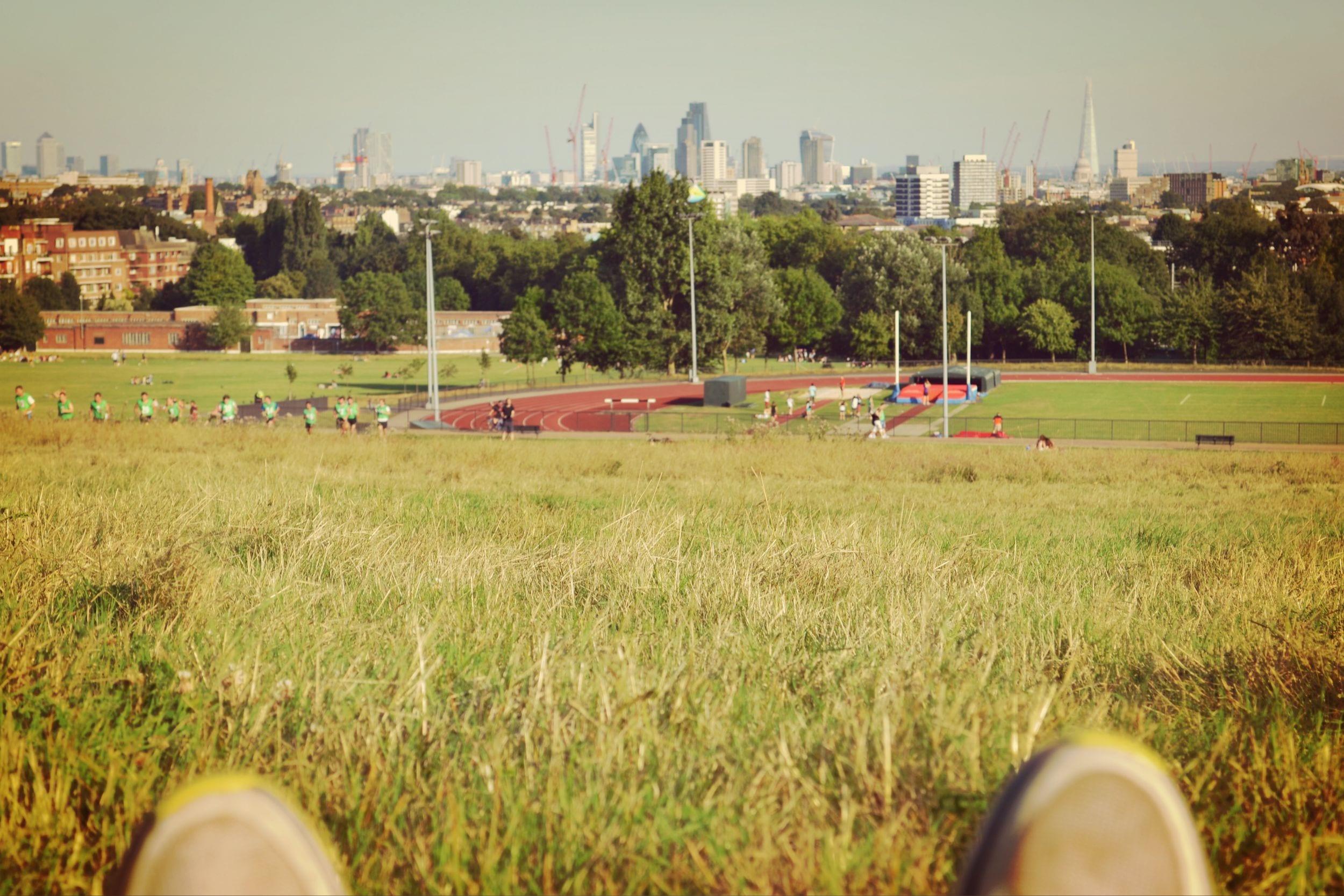 Die Aussicht vom Hamstead Heath Park