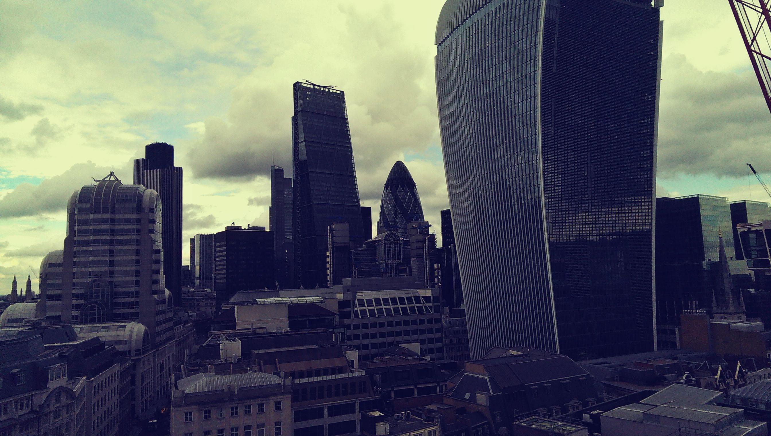 London's Skyline vom Monument aus
