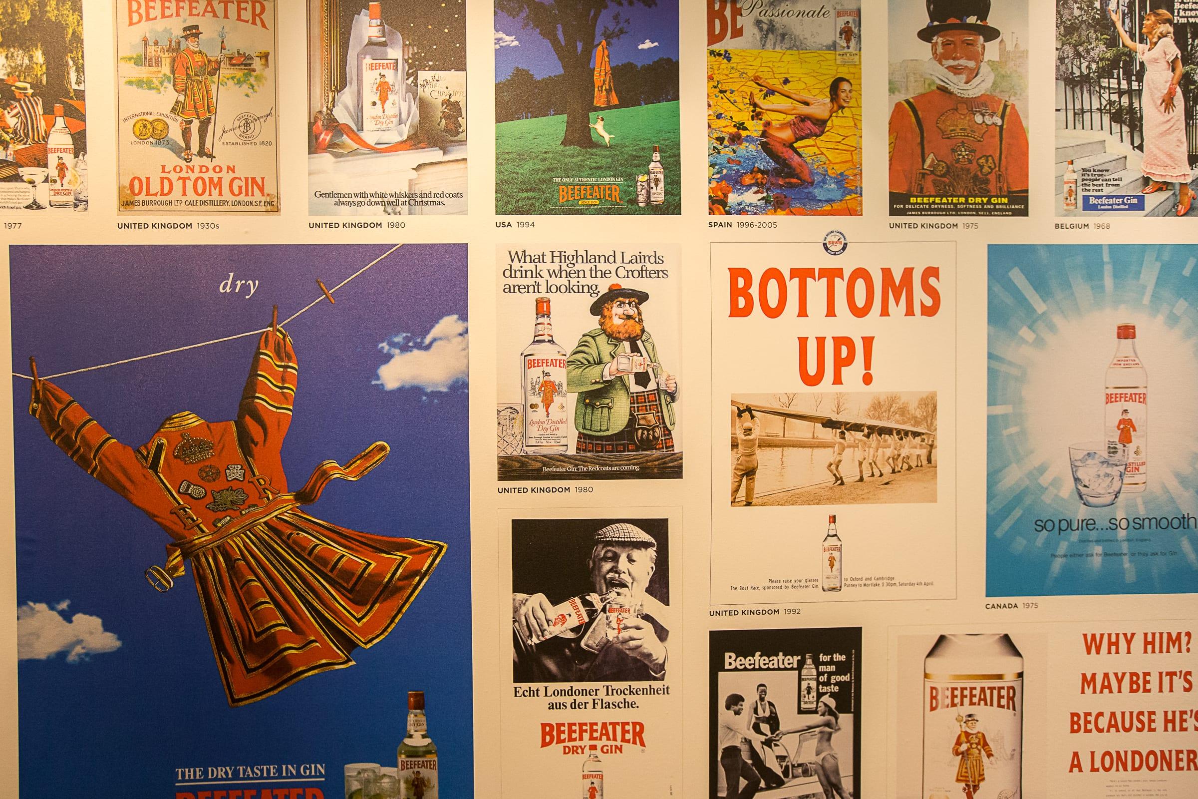 """""""Historische"""" Werbung für Alkohol. Foto: Beefeater"""