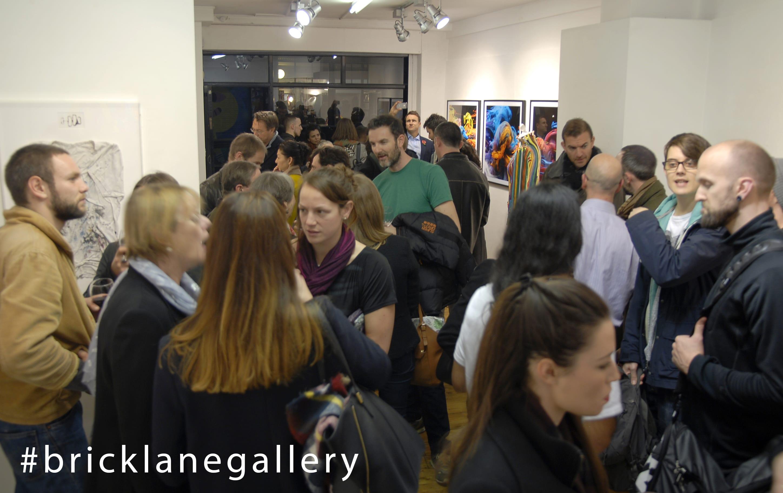 Besucher der Brick Lane Gallery
