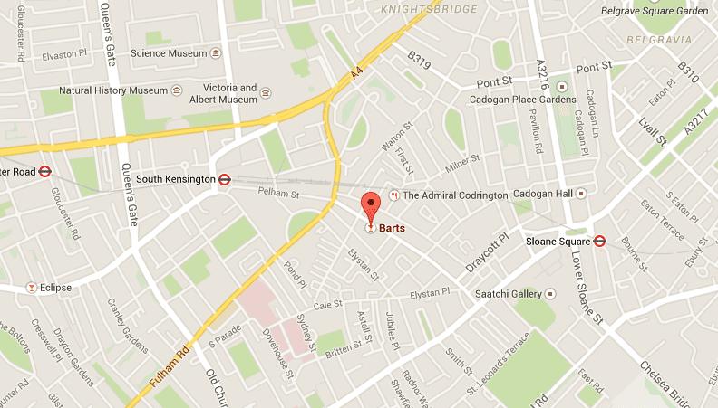 Hier findest Du das Barts, Quelle: Google Maps