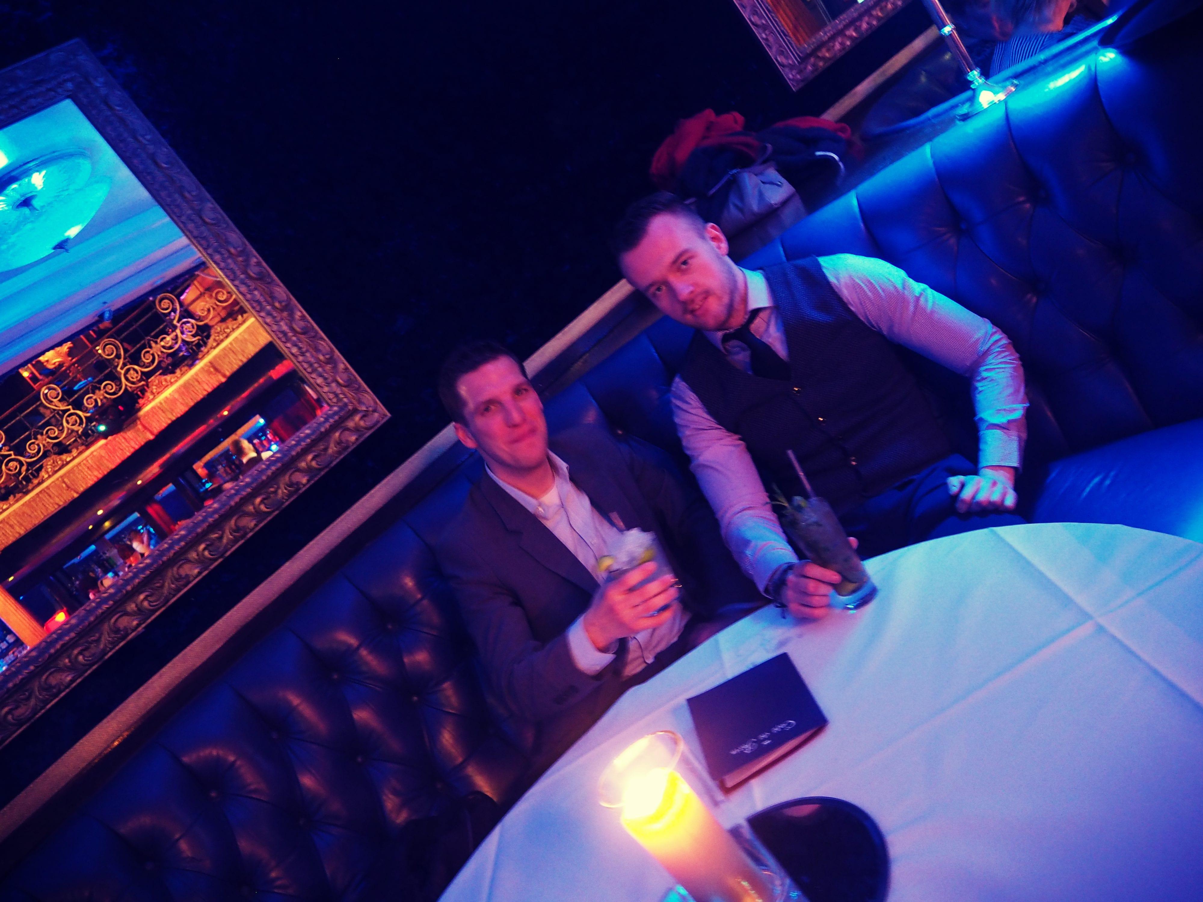Ich und Jorma im Cafe de Paris