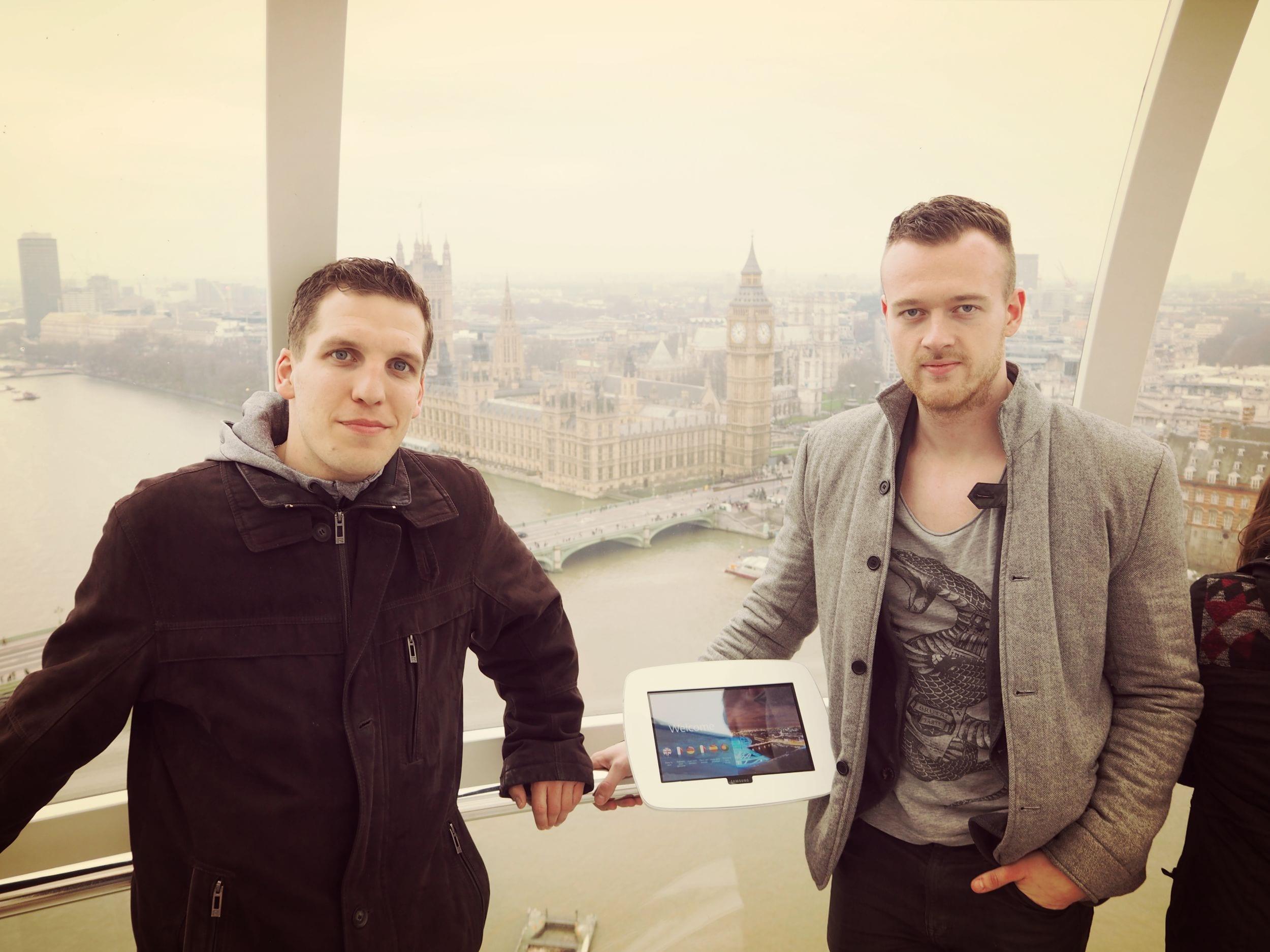 Ich zusammen mit Jorma im London Eye