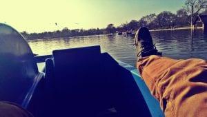 tretbootfahren im hyde park