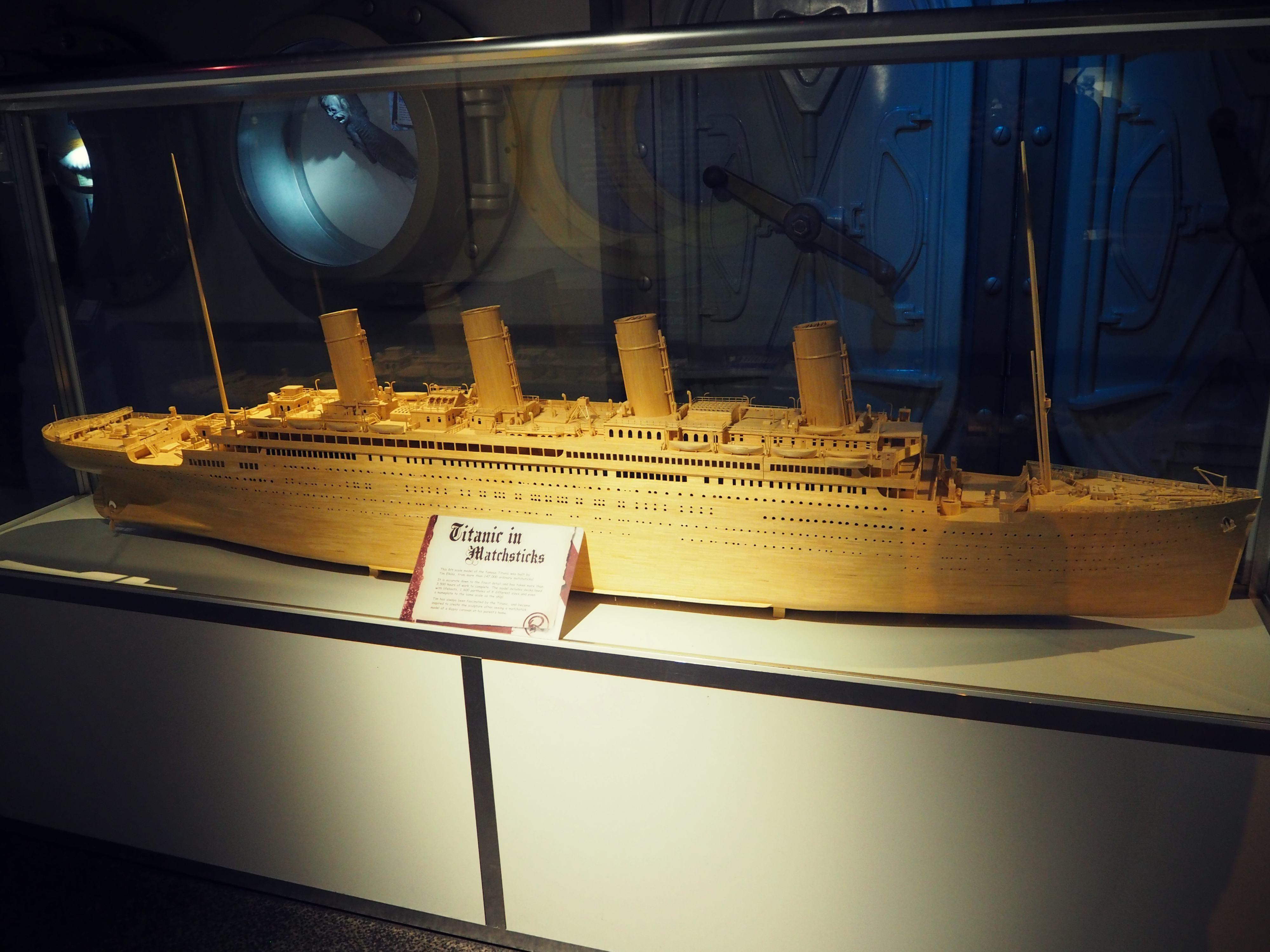 Beeindruckend: Eine Titanic komplett aus Streichhölzern!