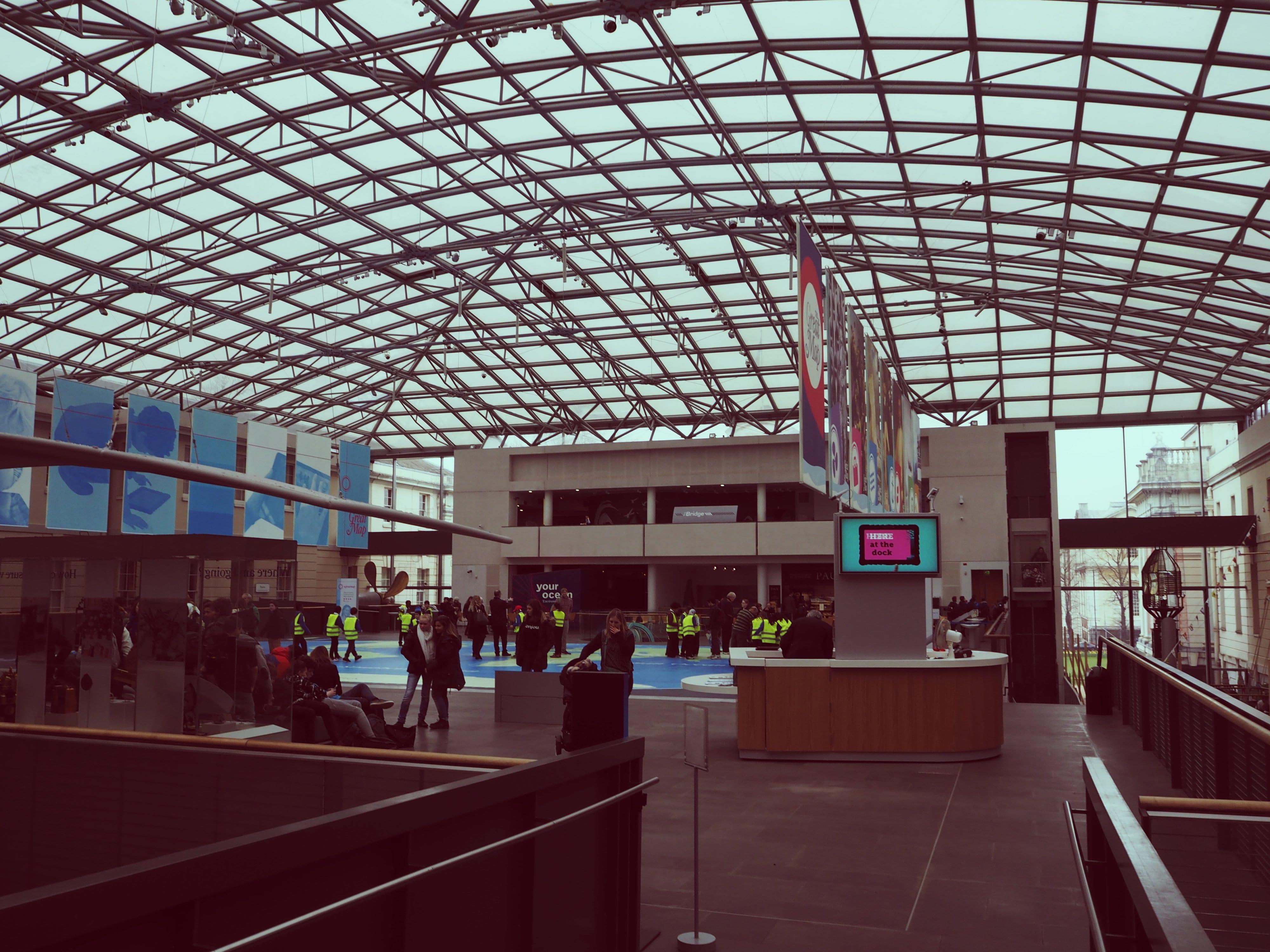 Die beeindruckende Dachkonstruktion des Museums