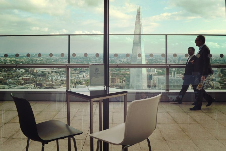 Der Ausblick ist wirklich toll, hier zum Beispiel auf The Shard