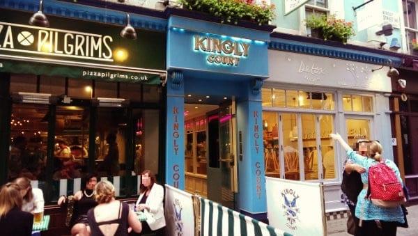 Der unscheinbare Eingang zum Kingly Court