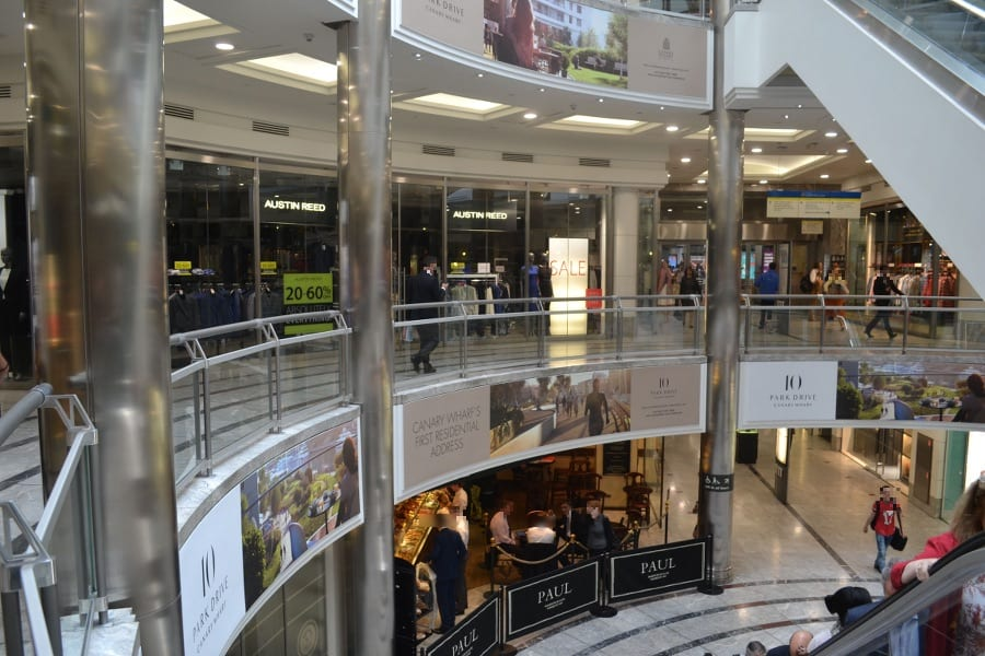 Auch Shopping kommt in Canary Wharf nicht zu kurz!