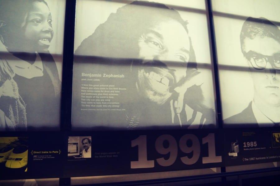 Benjamin Zephaniah, der enorm wichtig für Londons Kulturentwicklung war.