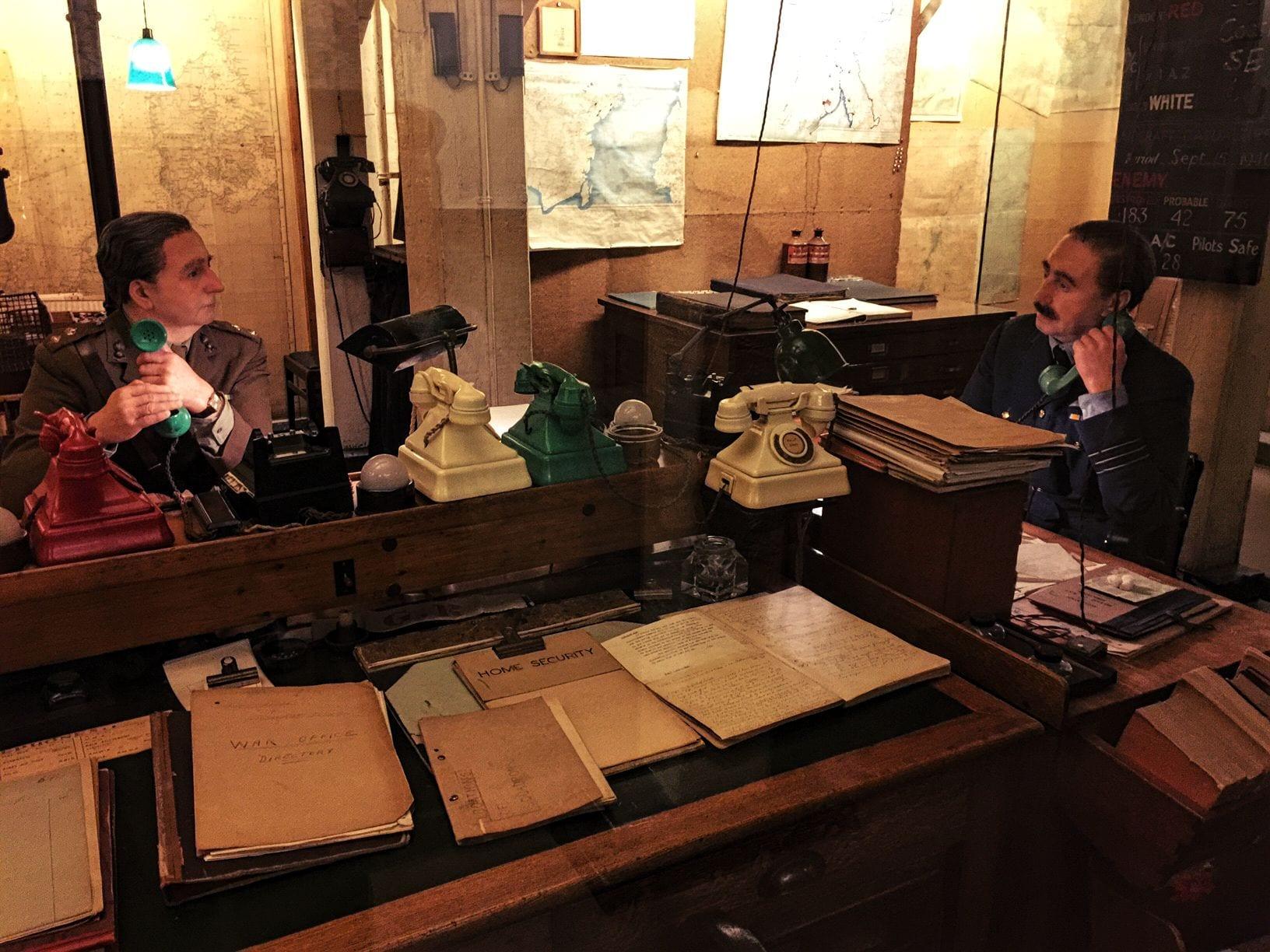 Eine authentisch nachgestellte Szene aus den Churchill War Rooms