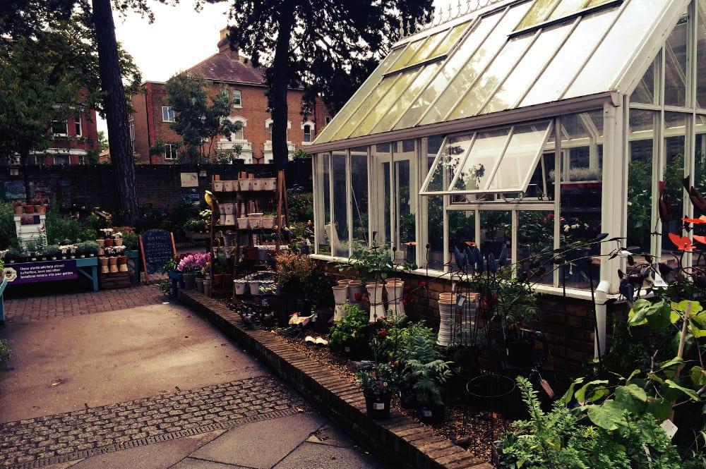 Einer der Shops in den Gärten am Viktoria Gate