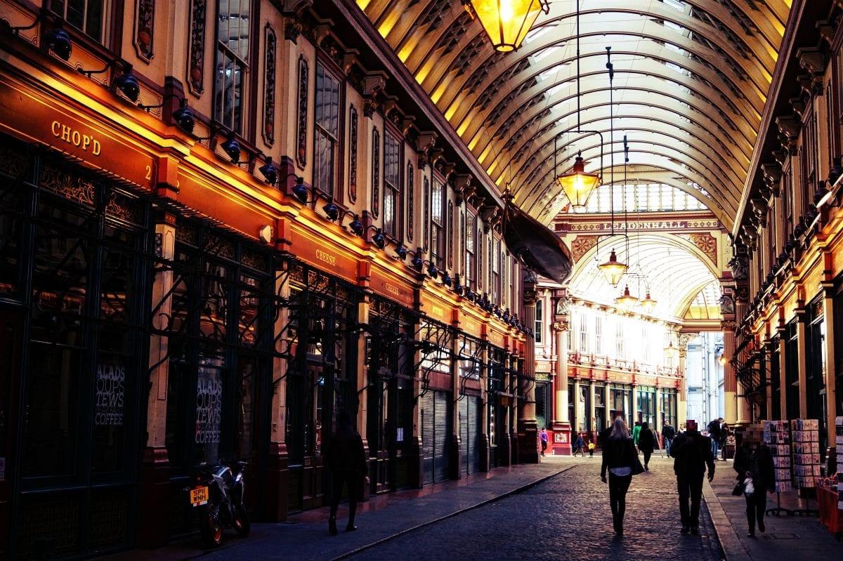 Eine tolle Atmosphäre zum Shoppen, oder auch zum Essen - Leadenhall Market