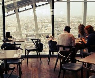 Essen mit Ausblick über London – Darwin Brasserie – Sky Garden