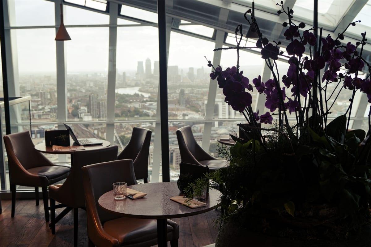 Vom Restaurant aus hat man fast einen 360 Grad Blick über London