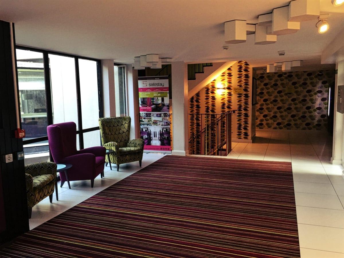Das Foyer des Hotels