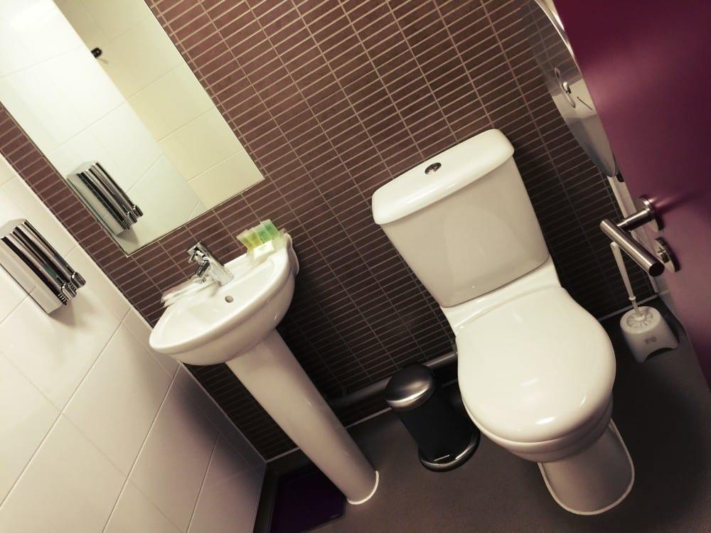 Das WC ist modern und sauber!