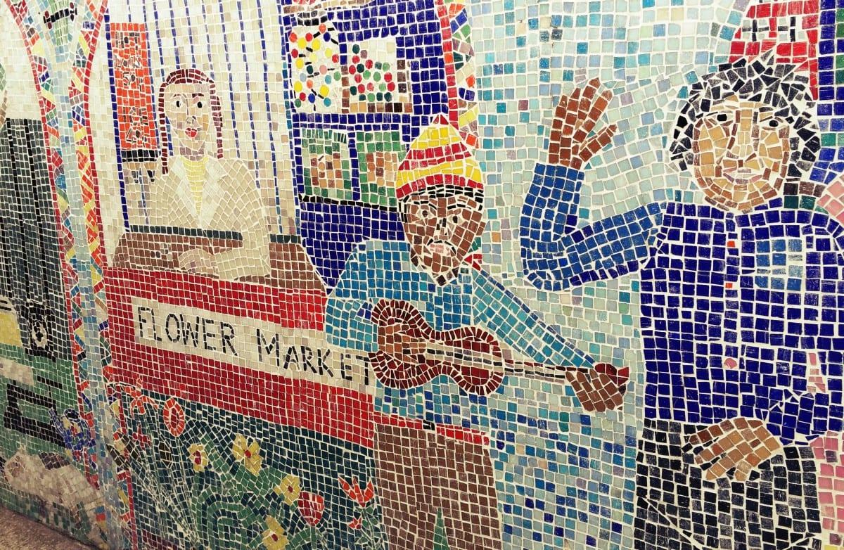 Die berühmten Kacheln vom Columbia Road Flower Market