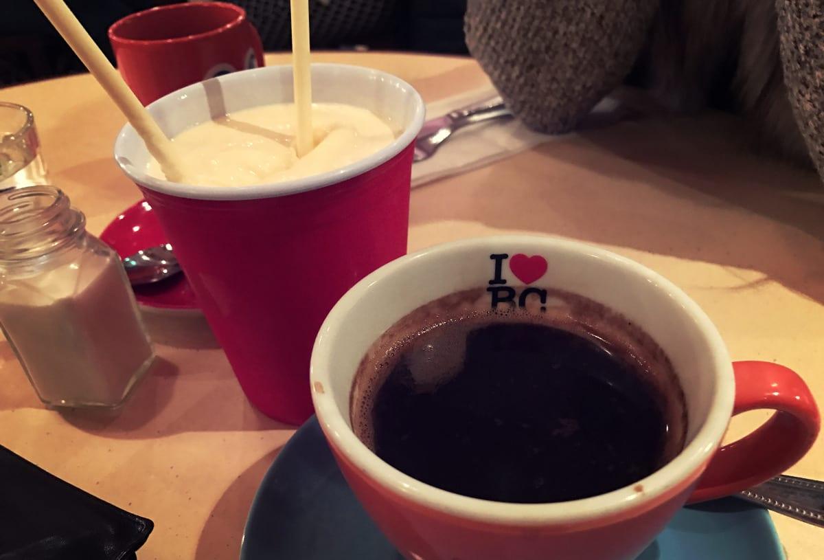 Auch die Milchshakes sind richtig lecker! Der Kaffee ist auch amerikanisch, daher nicht ganz so mein Fall.
