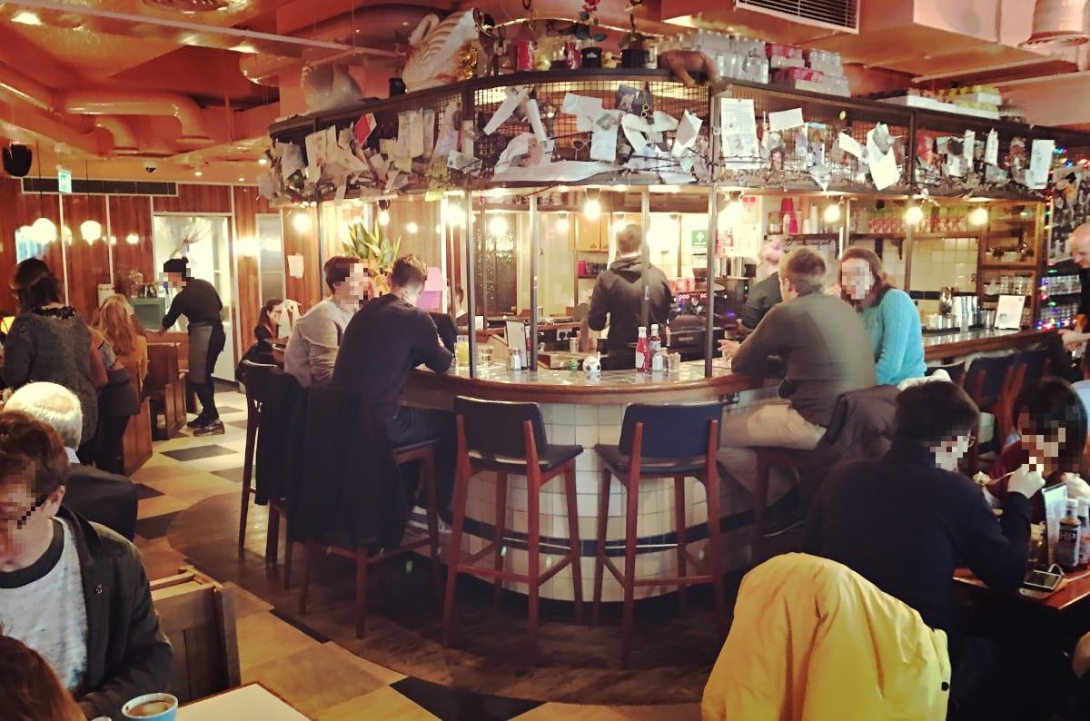 Der Blick in den Breakfast Club London Bridge