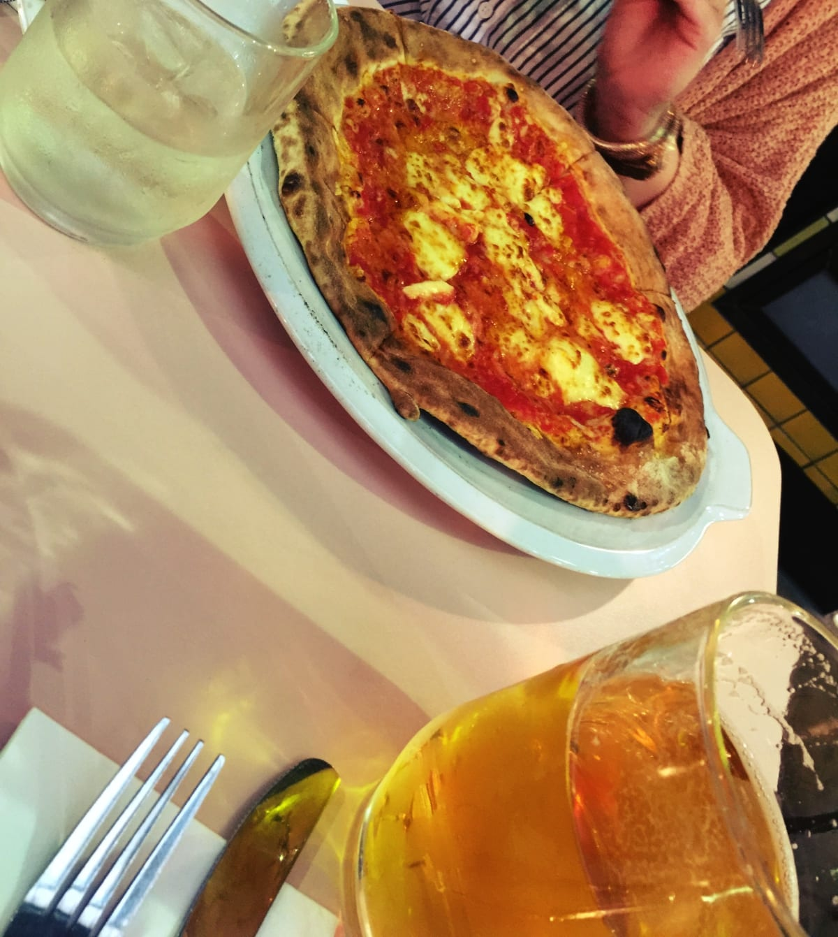 Auch die Pizza hier ist sehr gut!