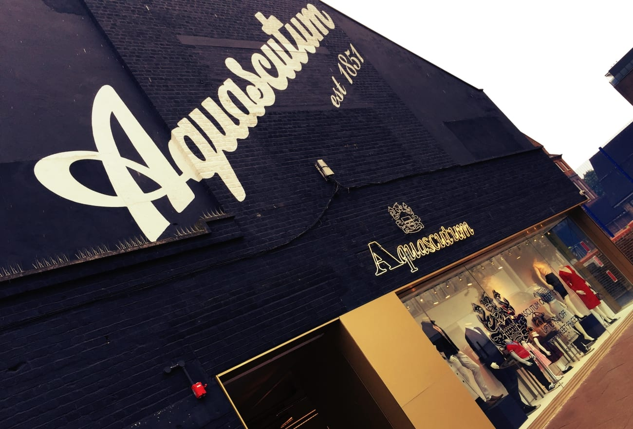 Der Aquascutum Outlet Store im Hackney Walk