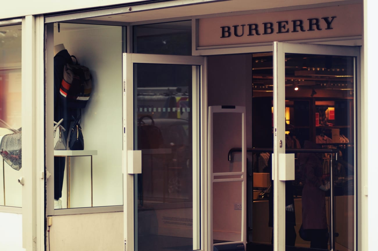 Der Burberry Outlet Store im Hackney Walk