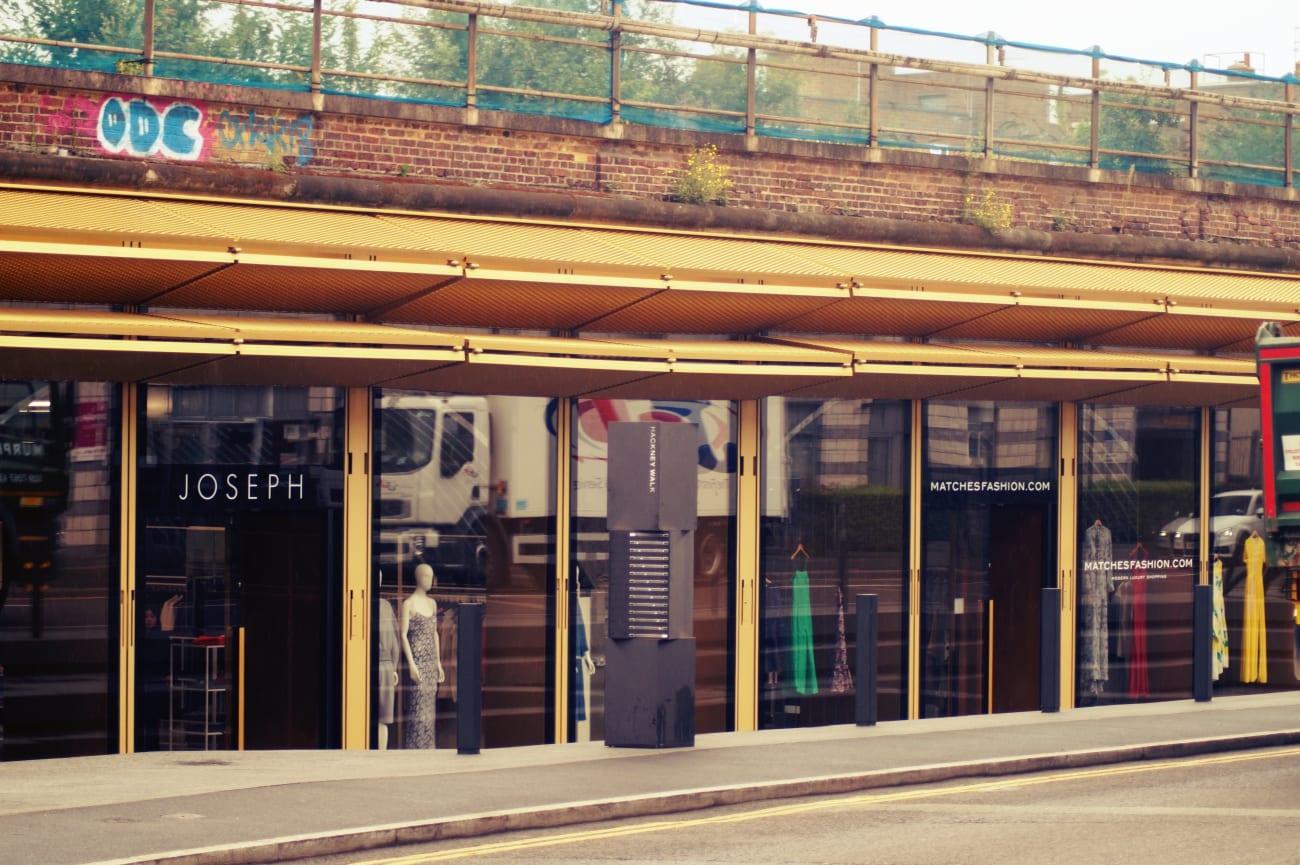 Ladenzeilen des Hackney Walks