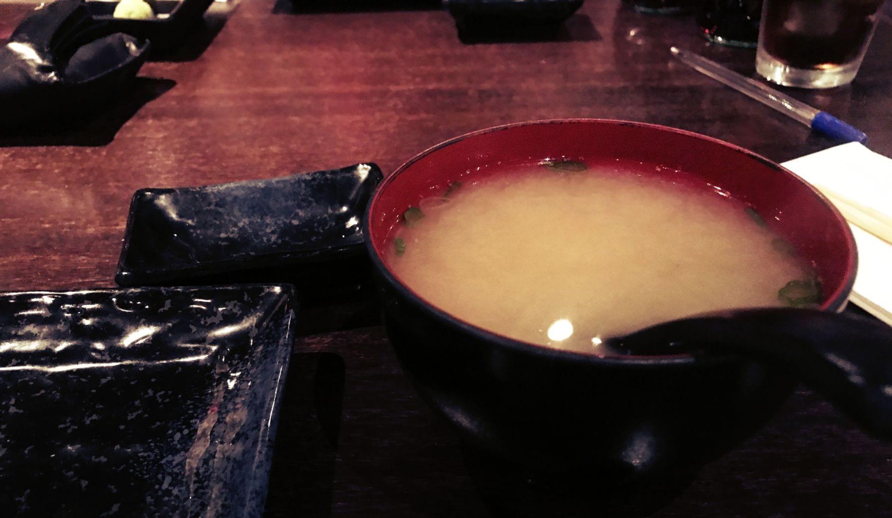 Miso Suppe darf auch nicht fehlen!