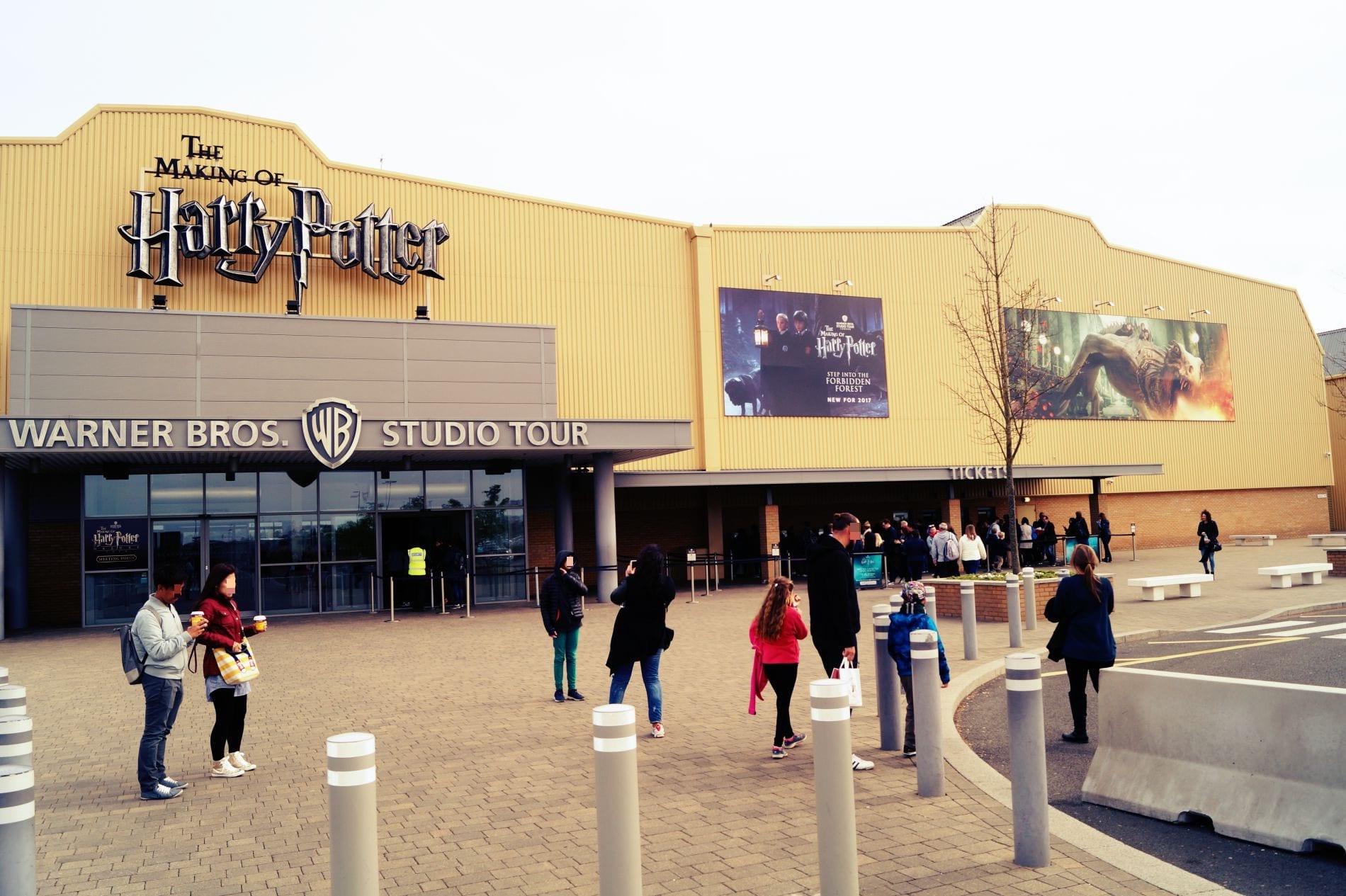 Der Eingang zu den Harry Potter Studios