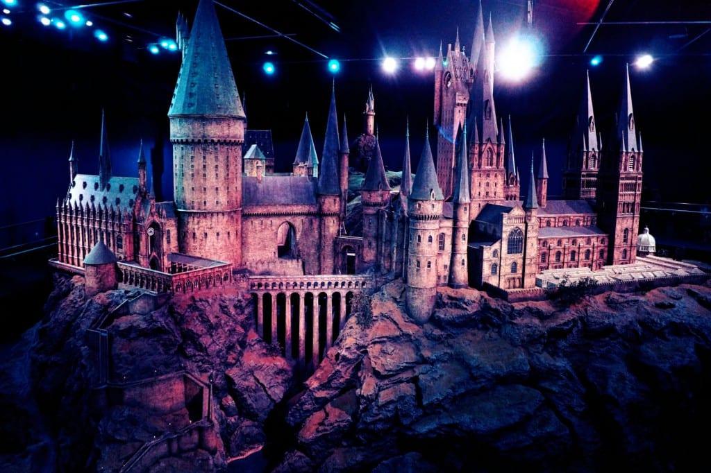 Ein gigantisches Modell des Schloss Hogwarts - dies wurde auch für die Außenaufnahmen des Schlosses immer wieder verwendet!