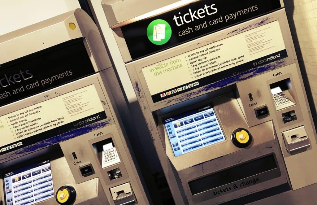 Erst druckst Du hier Deine Tickets aus, wenn Du nicht mit der Oyster Card zahlst